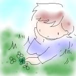 庭で寝転ぶなんてひさしぶり~